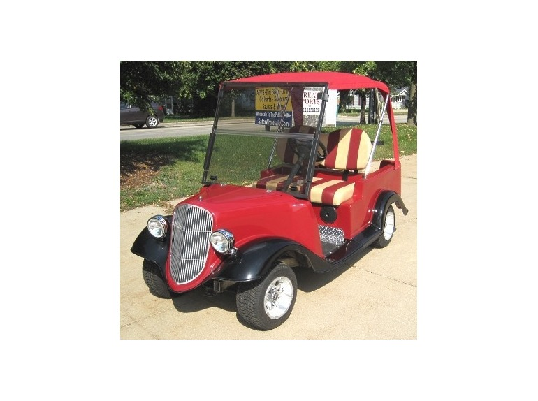2011 Gsi '34 Old Car Custom Club Car Golf Cart With Convertible