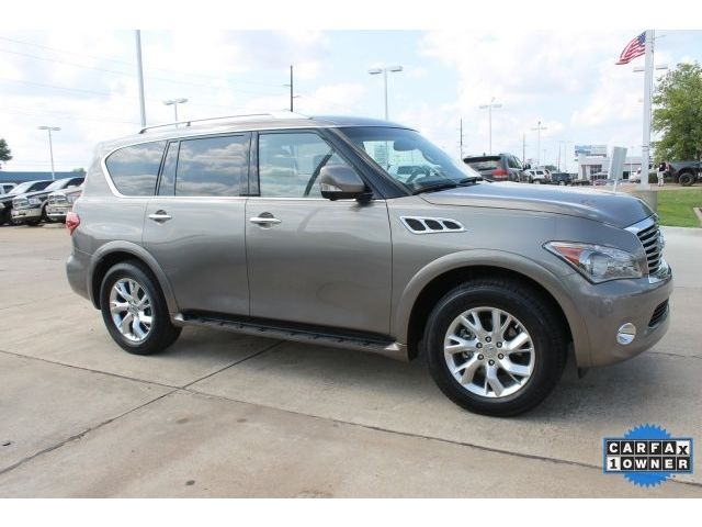 Infiniti : QX56 Base SUV 5.6 L NAV qx 56 13 rear dvd clean finance captain leather large fiannce nice