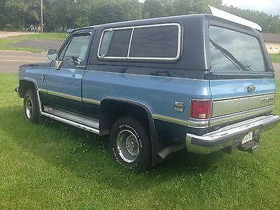 Chevrolet : Blazer K5 1987 k 5 chevy blazer