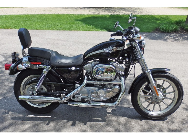 harley davidson sportster 883 hugger motorcycles for sale in indiana. Black Bedroom Furniture Sets. Home Design Ideas