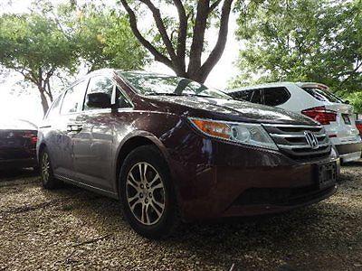 Honda : Odyssey EX-L Honda ODYSSEY EX-L Low Miles 4 dr Van Automatic Gasoline 3.5L V6 Cyl Dark Cherry