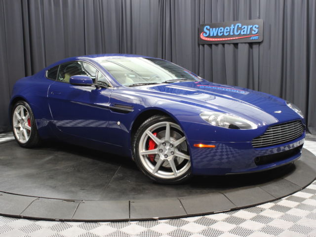 Aston Martin : Vantage 2dr Cpe Spor CLEAN CARFAX REPORT! FOUR BRAND NEW TIRES! MONACO BLUE! SPORT SHIFT TRANSMISSION