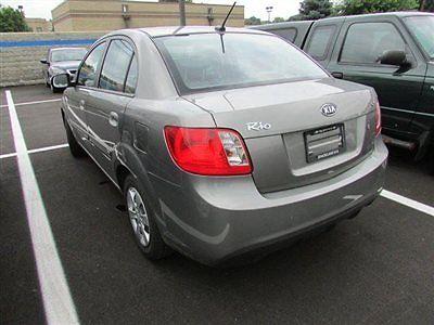 Kia : Rio 4dr Sedan LX 4 dr sedan lx low miles automatic gasoline 1.6 l 4 cyl gray