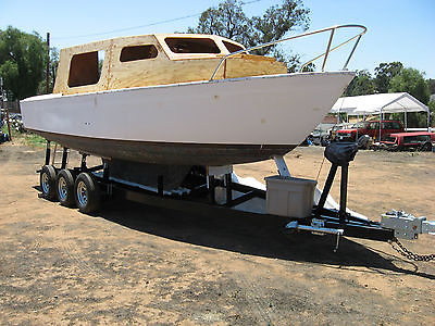 Near New Trailer and Motor sailor project