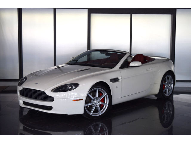 Aston Martin : Vantage Base Convertible 2-Door 2008 aston martin vantage convertible rare color white red nav loaded