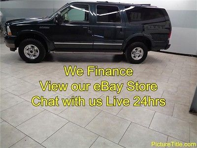 Ford : Excursion Limited 4WD 02 excursion limited 4 x 4 3 rd row leather heated seats tv dvd we finance texas