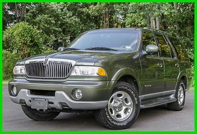Lincoln : Navigator Base Sport Utility 4-Door 2001 lincoln navigator 1 owner v 8 serviced texas 62 k mi carfax rare