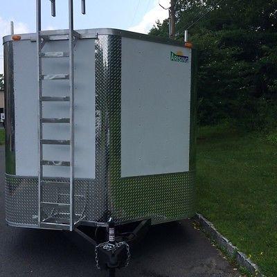 2015 8,5x16 Enclosed COntractor Trailer 10400gvw Barn Doors