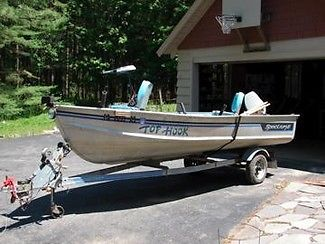 1989 Blue Fin Spectrum 15 FT FISHING BOAT WITH TRAILER NISSAN OUTBOARD ENGINE