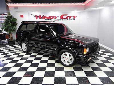 GMC : Jimmy 2dr Typhoon AWD 1992 gmc typhoon 4.3 v 6 turbo awd jet black over black leather stock super clean