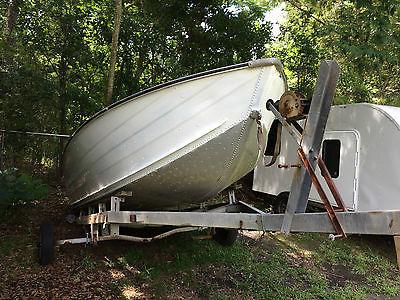 17' Aluminum Boat and trailer