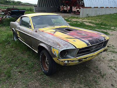Ford : Mustang GTA 1967 mustang fastback s code gta big block 390 vintage burgundy console 9 inch
