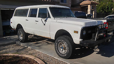 Chevrolet : Suburban 3 door 1970 suburban rare optioned 4 wheel drive project run and drives good