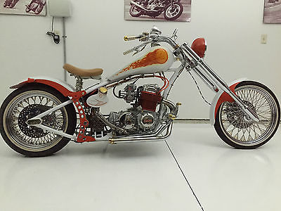 Custom Built Motorcycles : Chopper Early Honda SOHC 750 Custom Chopper Cycle 1 Manufacturing Frame
