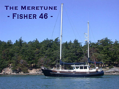 46' Motorsailer Yacht: FISHER 46 - Powerboat / Sailboat - Estate sale