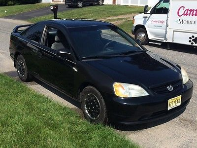 Honda : Civic DX Coupe 2 Door 2001 Honda Civic 2 Dr 5 Spd Rebuilt