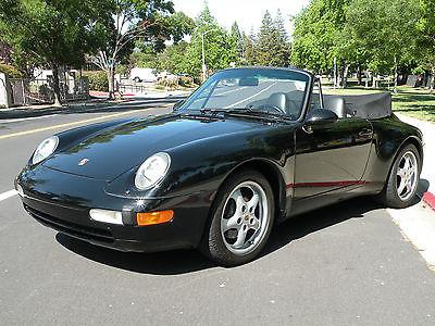 Porsche : 911 993 911 carrera 4 cabriolet california car triple black last year 993 low 34 k miles
