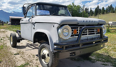 Dodge : Power Wagon W300 Super Truck! RARE! 1967 W300 Power Wagon V8 Dana 70 Front/Rear Power Brakes for 12v Cummins?