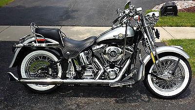 Harley-Davidson : Softail 2003 harley davidson flsts 100 th anniversary softtail springer gold key