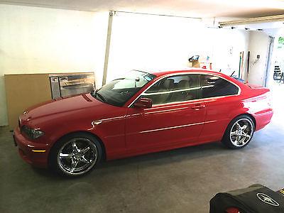 BMW : 3-Series Base Coupe 2-Door BMW 325CI 2 Door Red Low Miles Loaded 18