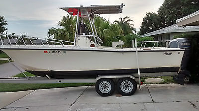 Mako 224 Center Console with Yamaha 225 4 stroke and aluminum trailer