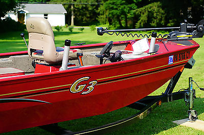 Yamaha G3 fishing boat, 20HP motor, only 43 hours of use