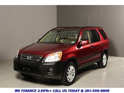 Honda : CR-V 2005 CRV 4X4 SUNROOF ALLOYS 84K MILES 2005 crv 4 x 4 sunroof alloys 84 k miles cd auto cruise alarm red on tan