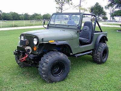 Jeep : CJ 1981 jeep cj 7 4.2 l winch arb air lockers 35 s lift manual od green