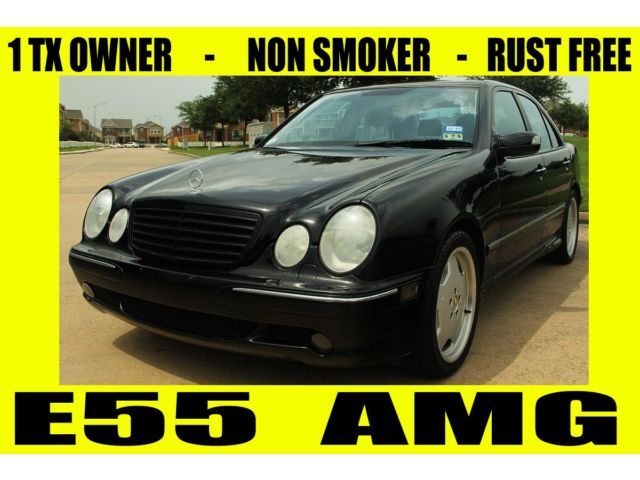 Mercedes-Benz : E-Class E55 AMG 2001 mercedes e 55 amg 1 tx owner rust free xenon heated seats