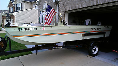 73 Ouachita 16' Bass Boat w/Trailer and 2000 Honda 4-Stroke 40HP Outboard