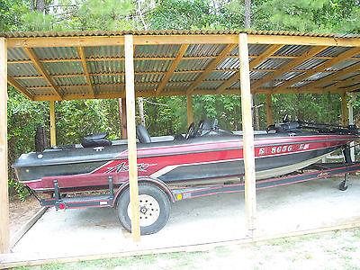 1994 17' astro bass boat & trailer