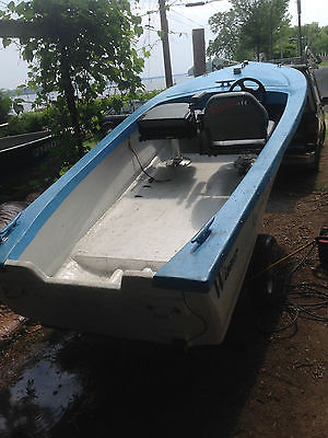 12' Winner Runabout Utility Boat With Trailer 1950's