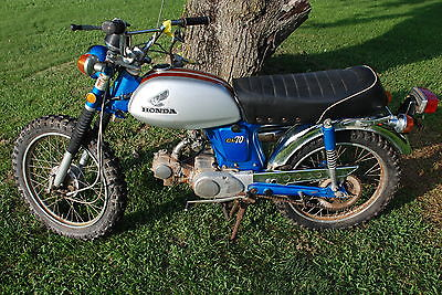 Honda : CB L@@K 1971 Honda CL 70 Barn Find Previously Used As A Pit Bike on Dirt Track