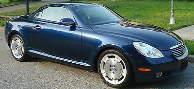 Lexus : SC ESTATE SALE! 2002 lexus sc 430 1 owner 163 k like new garaged midnight blue blk dealer svcd