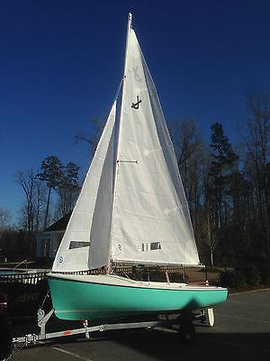 Restored O'Day Javelin Sailboat, 14-foot like Daysailer, galvanized trailer,