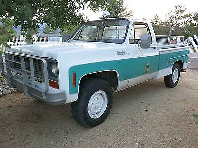 Chevrolet : C/K Pickup 2500 K20 1974 chevrolet k 20 4 wd service truck solid old nevada truck