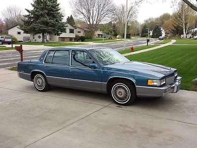 Cadillac : DeVille Silver Trim with White Pin Stripe Package 1990 cadillac sedan deville