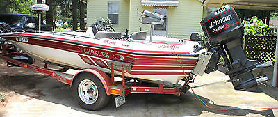 1994 18' Charger Bass Boat with 150 H.P. Johnson Fast Strike Outboard Motor