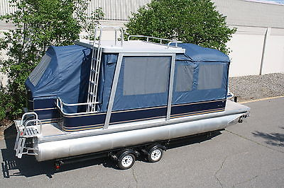 Special---New  pontoon boat with swim roof and full camper