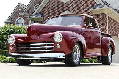 Ford : Other Pickups 1948 ford custom convertible pickup street rod air ride 454 wow