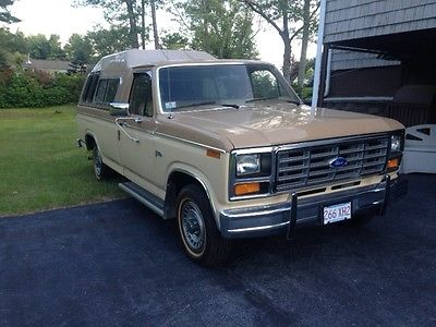 Ford : F-150 two tone desert tan 1983 f 150 collector quality ford camper set up with leer high cap