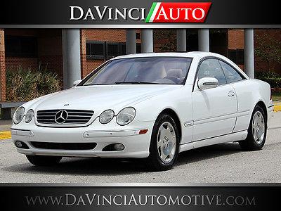 Mercedes-Benz : CL-Class Base Coupe 2-Door 2001 mercedes benz cl 600 base coupe 2 door 5.8 l white 2 owner florida 51 k miles