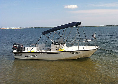 2001 Boston Whaler Montauk 17 w/90HP Yamaha 2-Stroke Engine and trailer