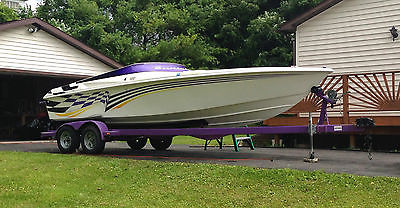 1998 Sunsation Aggressor 25' 454 Power Speed Boat Baja Fountain Scarab Checkmate