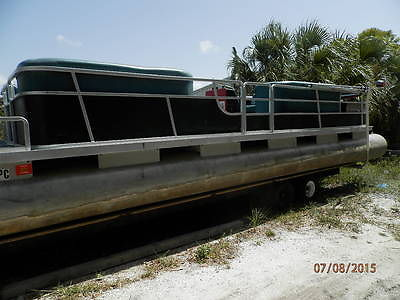 Pontoon boat party barge in florida inboard outboard gas engine
