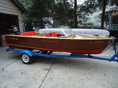 1957 14 ft Century Imperial Sportsman Wood Boat - fully restored