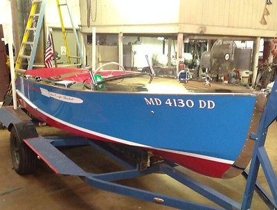 1947 16' Chris Craft Rocket 350 Chevy 270hp fully restored wooden boat  special.