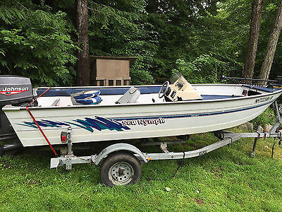16' foot Aluminum Sea Nymph Fishing Boat, low hours 70hp Johnson motor