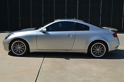 Infiniti : G35 Sport Tuned Suspension Package 2 Door Coupe Chrome Silver  Ext Graphite Int