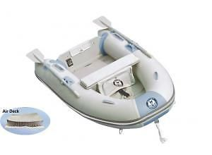 "Inflatable 9'1"" Silver Marine Beach Boat- Nemo 275 HD Bottom"